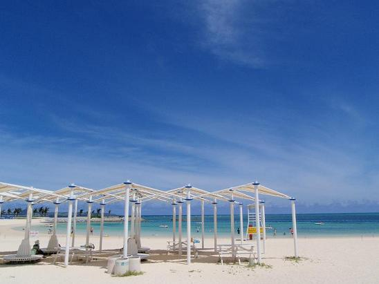 コチラ、美ら海水族館の近くにあるエメラルドビーチです