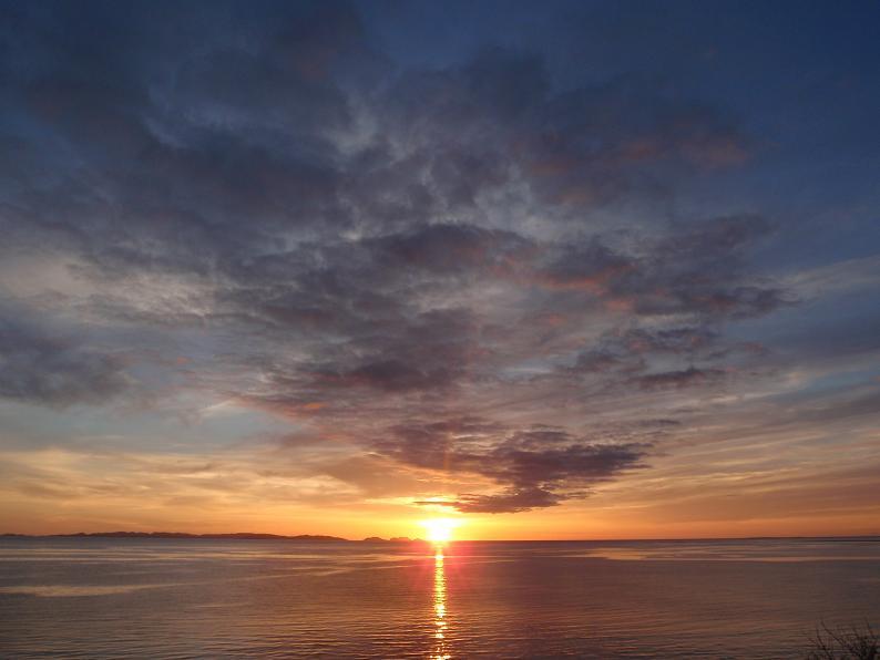 瀬長島から見た夕陽パート2